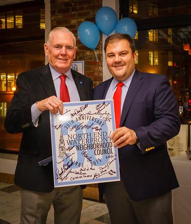 Former Boston Mayor Raymond Flynn and NEWNC President Philip Frattaroli