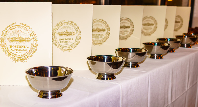 City Commendations and Paul Revere silver bowls were presented to founding NEWNC members