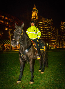 Equestrian park ranger at Christopher Columbus Park