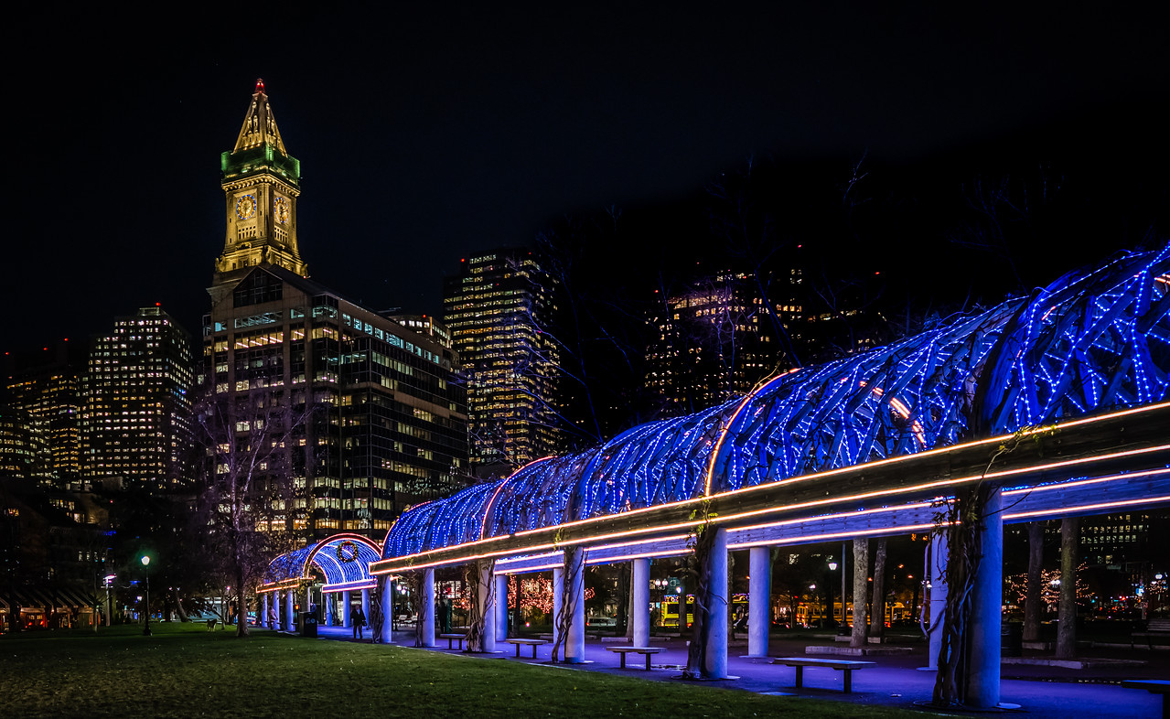 trellis lighting at christopher columbus park showcases new led lights t