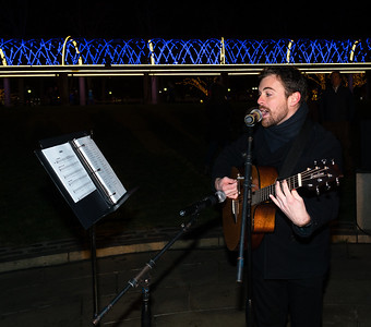 NEMPAC vocalist performs at the trellis lighting