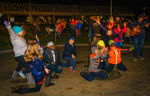 NEMPAC kids perform at the trellis lighting
