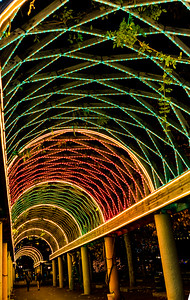 Various light combinations will be possible, such as red and green shown here