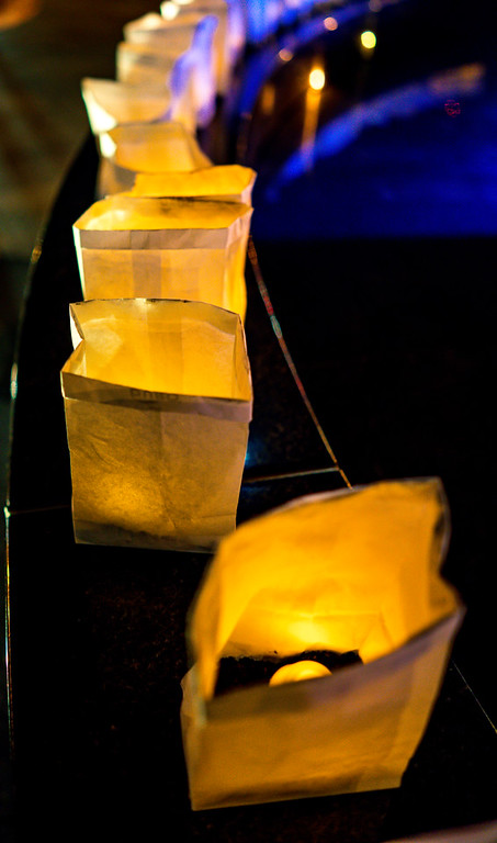 Lighted lumineria's for the winter solstice peace walk