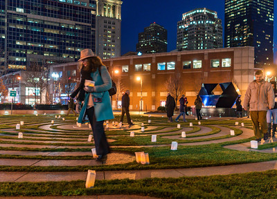 The winter solstice brought out dozens to walk the labyrinth