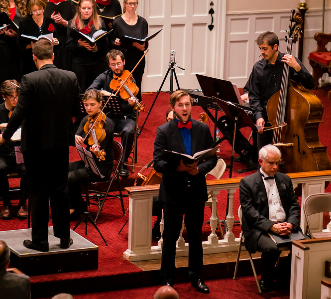 Soloist Elijah Blaisdell