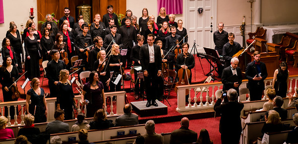 Conductor Kristo Kondakci of the Boston Landmarks Orchestra with NEMPAC soloists and the One City Choir