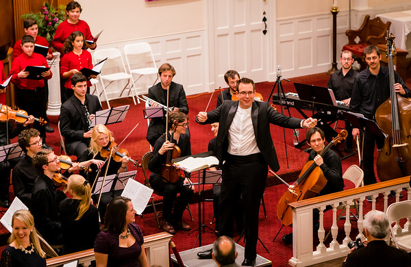 Conductor Kristo Kondakci during Handel's Messiah