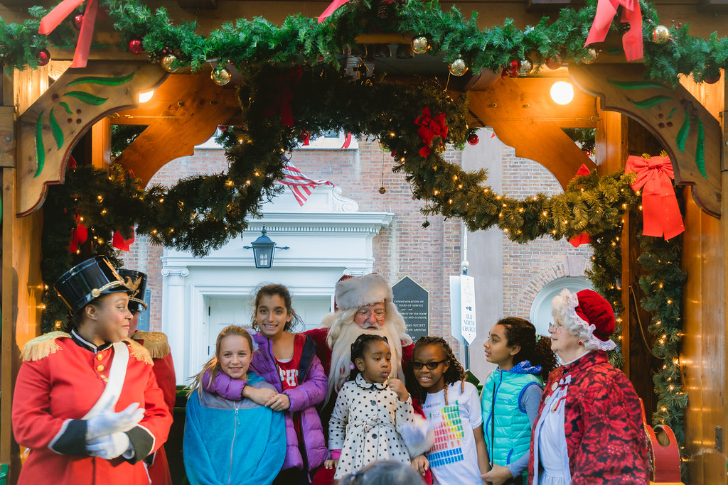 Kids waited patiently to talk to Santa