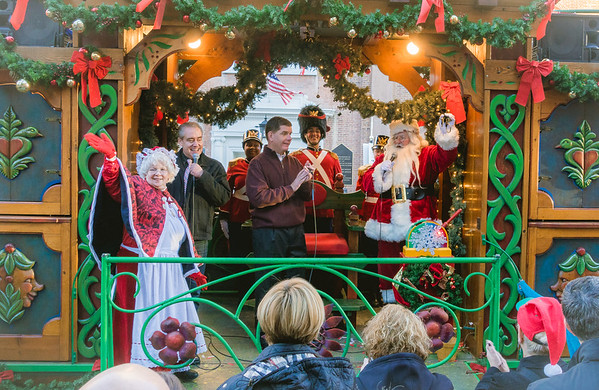 Santa and Mrs. Claus joined Mayor Walsh