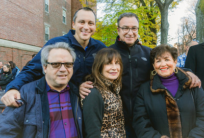 Rep. Aaron Michlewitz, Councilor Sal LaMattina with Anthony and Kathy D'Amore and Marie Agrippino