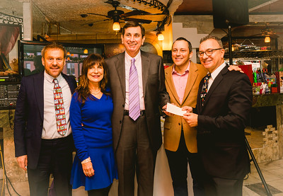 """Organizers and local officials, (L-R) NEW Health CEO James Luisi, Kathy Carangelo, Robert """"Ted"""" Tomosone, Rep. Aaron Michlewitz and Councilor Sal LaMattina"""