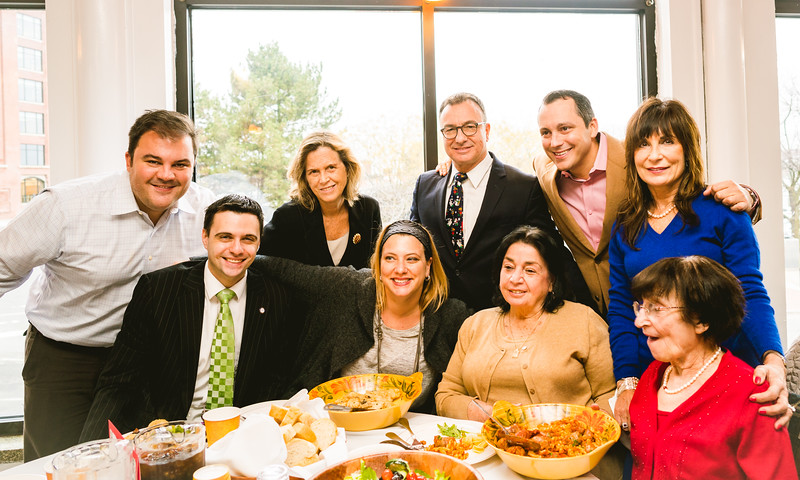 Office of City Councilor Sal LaMattina & friends (L-R) Philip, Michael, Janet, Lori, Sal, Laura, Aaron, Kathy and Angela