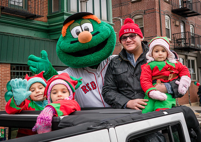 Wally from the Red Sox with Nicky Verrochi and friends