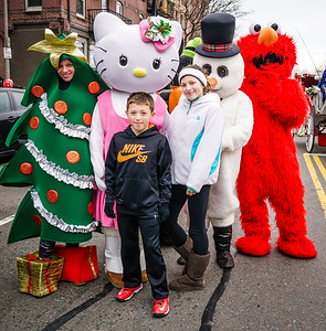 Serina, John Jr. D'Amico with Christmas characters