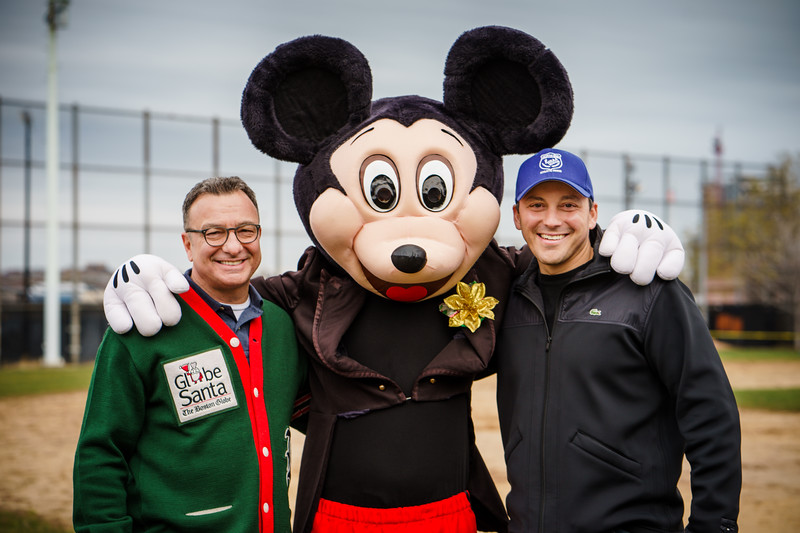 Mickey Mouse with Councilor Sal LaMattina and Rep. Aaron Michlewitz