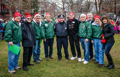 NEAA parade organizers with BPD Officer Teddy Boyle, Dino DiFronzo and Kathy Carangelo