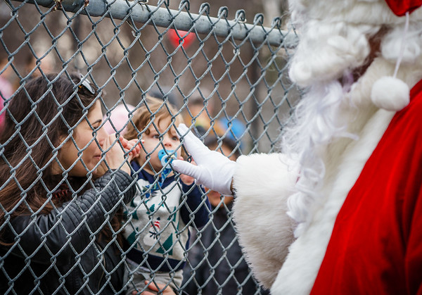 Connecting through the fence with Santa