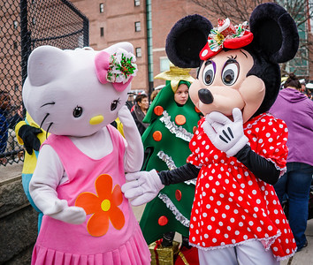 Hello Kitty and Minnie Mouse