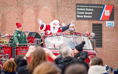Santa on the fire truck