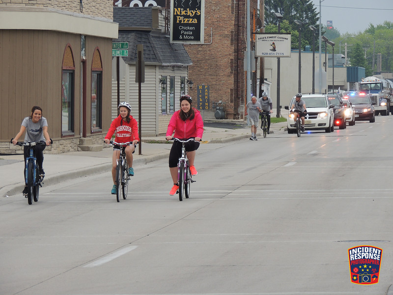 Scenes from the annual Sheboygan County Law Enforcement Torch Run for Special Olympics in Sheboygan, Wisconsin on Thursday, June 4, 2015. Photo by Asher Heimermann/Incident Response.