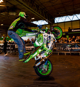 Lee Bowers Stunt Show at MotorCycle Live 2015
