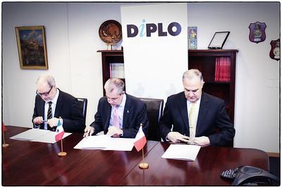Signing of MoU Mexico, Malta, Switzerland