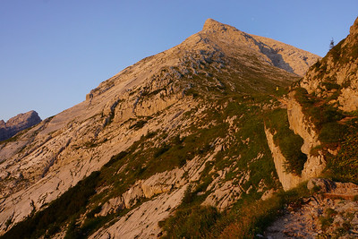 Early start towards the first Watzmann summit