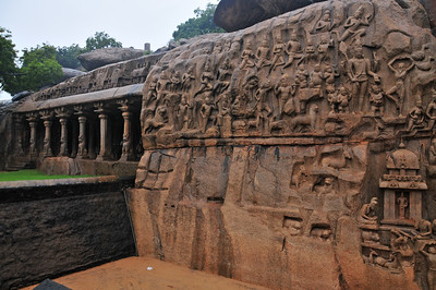 A rainy day in Mahabalipuram