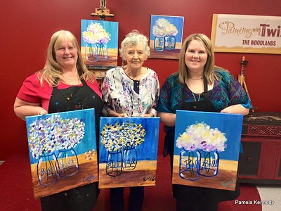 2016 03-05 Painting with a Twist My 60th and Pam's 29th