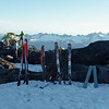 Skis ready for day 2