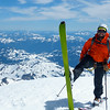 At the summit of Mount Baker