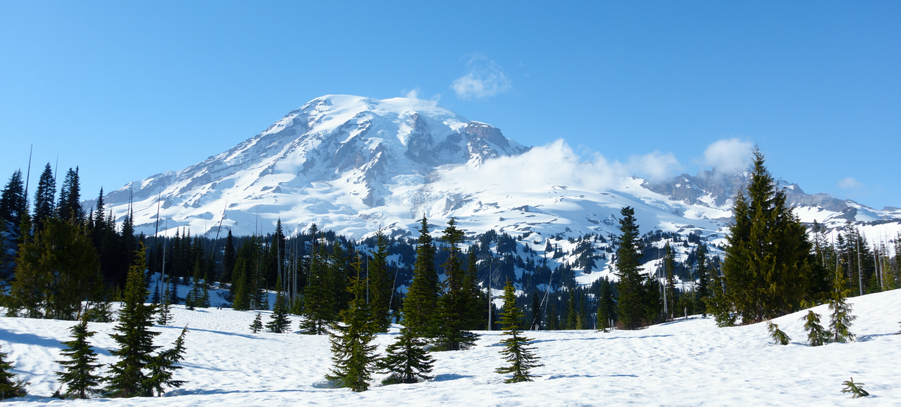 Hey, look, a volcano. Also, look, Muir is in white out.