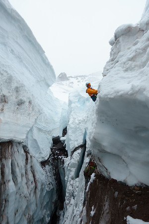 Kristen in the crevasse