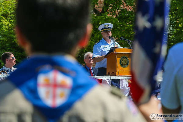 CWO Matthew D. James at Hinsdale Memorial Day Service