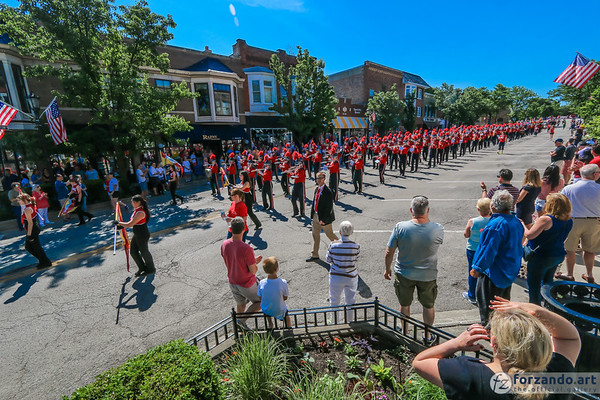 Red Devil Band on Parade