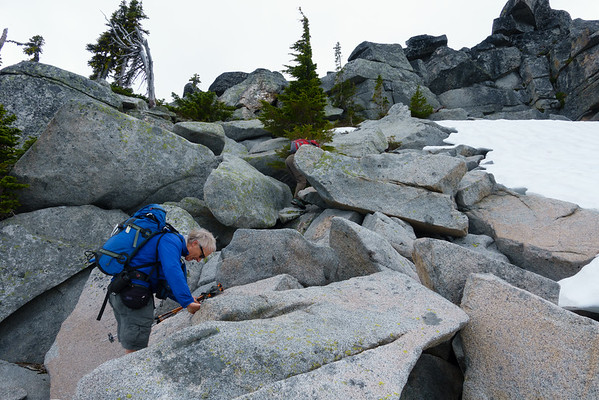 Ascending the final ridge