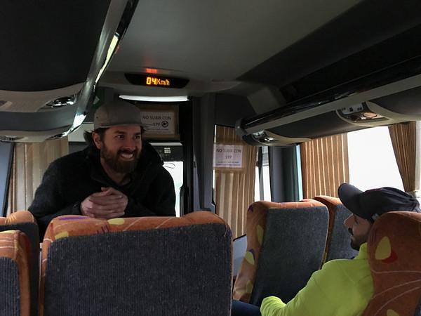 Phil describing the itinerary.