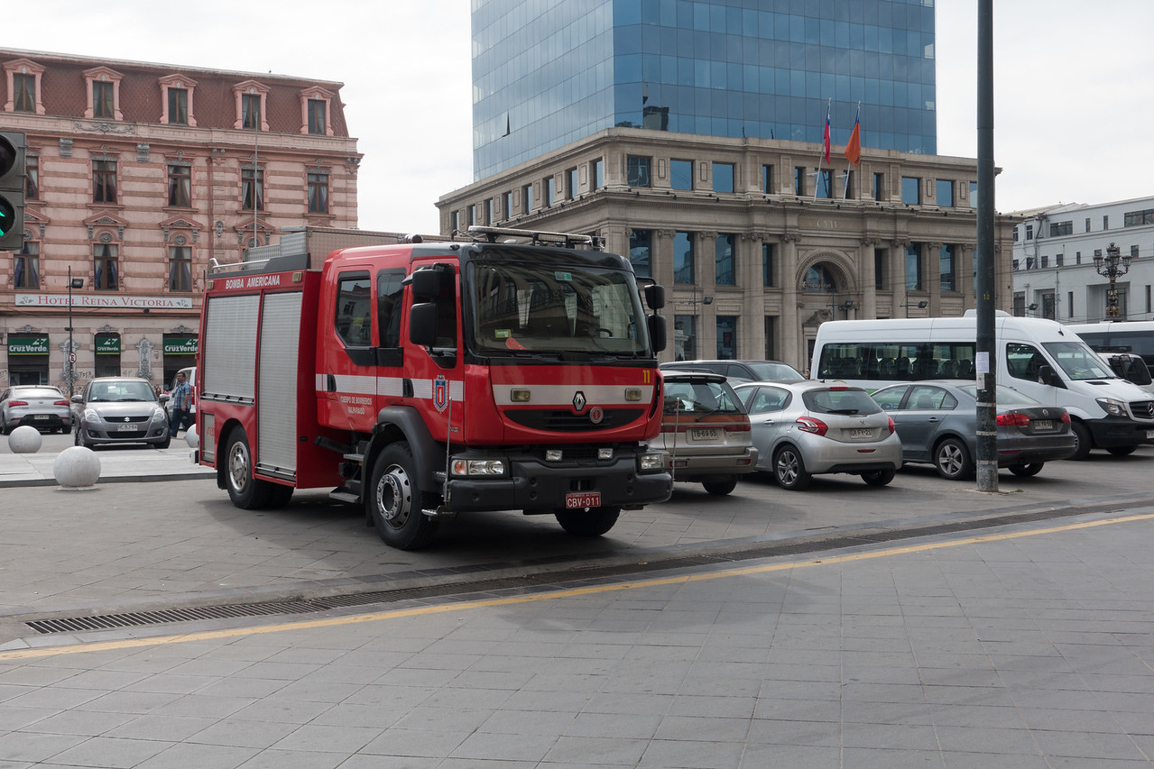 Chilean fire fighters (Bomberos) are all volunteer. Equipment is donated from around the world.