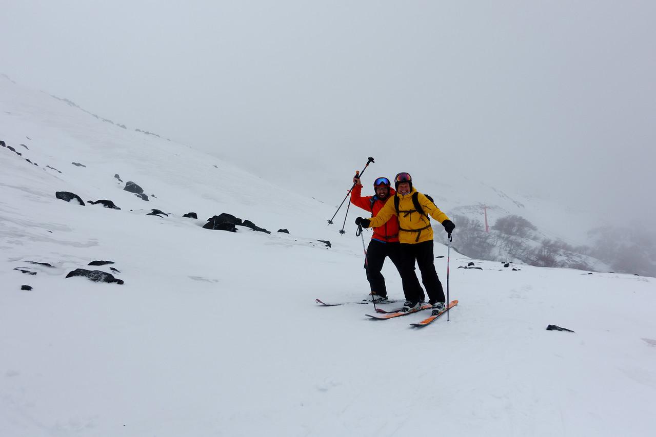 Dad and I out skiing at Altonevados de Chillan.