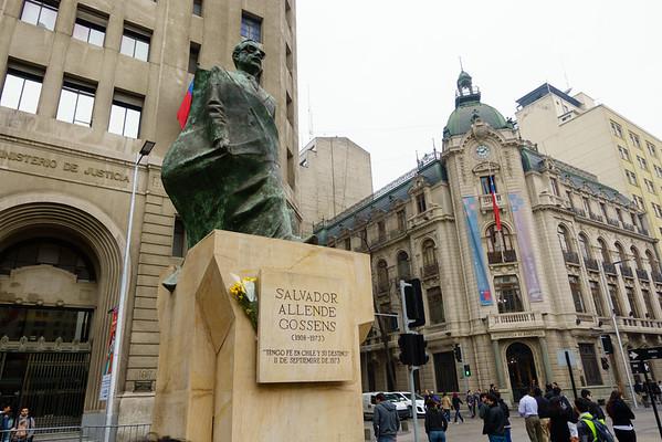 Plaza de Armas. Santiago.