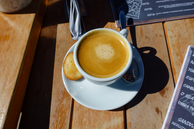 Beautiful espresso at lunch. Day 4
