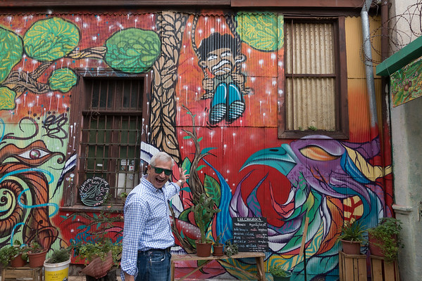 Lots of cool grafitti in Vina del Mar. The city encourages artists to come and do good work.