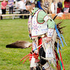 Don Knight | The Herald Bulletin<br /> Headman Dancer Nicky Belle dances in the grand entry during the Andersontown Powwow at Athletic Park on Saturday.