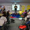 """New College of Florida Students at Bay Haven School of Basics Plus for an """"Hour of Code"""""""