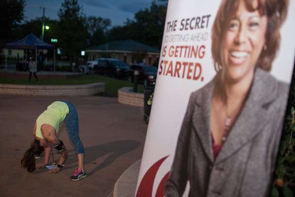 Runners and walkers gathered at Lawrence Plaza in Bentonville to support the local Dress for Success charity for their first 5k event on Saturday, October 15.