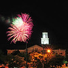 The fireworks light up over the Lawrence County Courthouse Saturday evening.