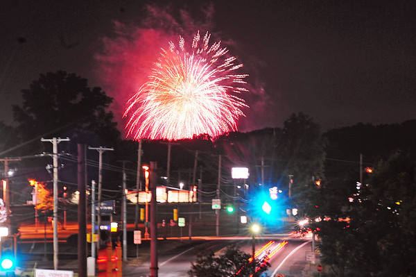 The 25th annual fireworks festival set off by Pyrotechnico as seen from Shenango Township.