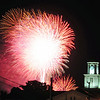 Fireworks over the courthouse Saturday evening.