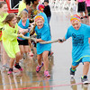 Don Knight | The Herald Bulletin<br /> Kids got to pull a Carter Express semi this year during the Human Truck Pull at the airport on Saturday.